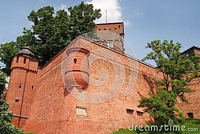 Krakow, Poland: Wawel Hill Defense Walls
