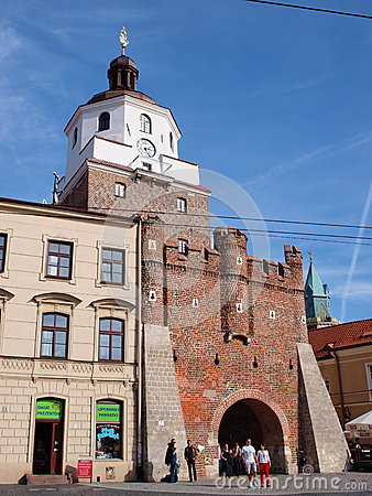 Krakowska Gate, Lublin, Poland Editorial Stock Photo
