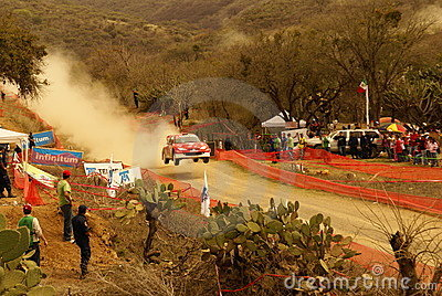 Kran 2010 hirvonen den mexico mikkoen samlar wrc Redaktionell Foto