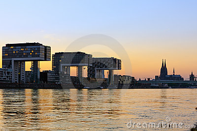Kranhaus buildings and Cologne Cathedral