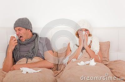 Kranke Bettpaare
