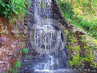 Krape公园瀑布伊利诺伊
