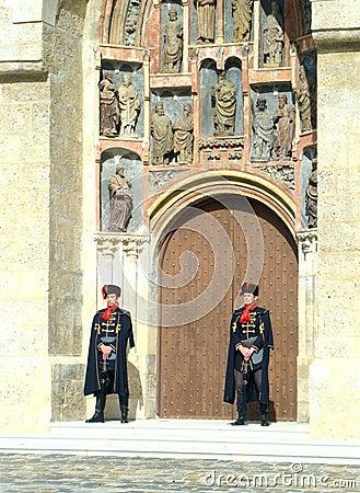 Kravat regiment guard change Editorial Photography