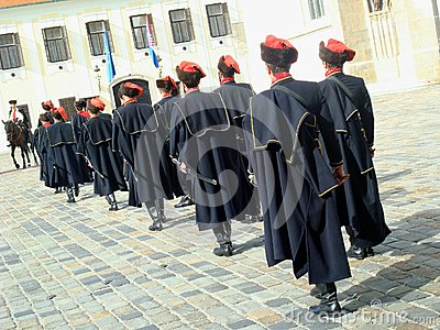 Kravat regiment guard change Editorial Photo