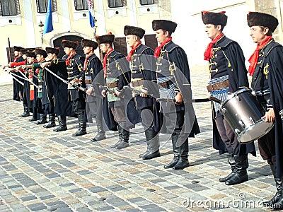 Kravat regiment guard change Editorial Stock Image