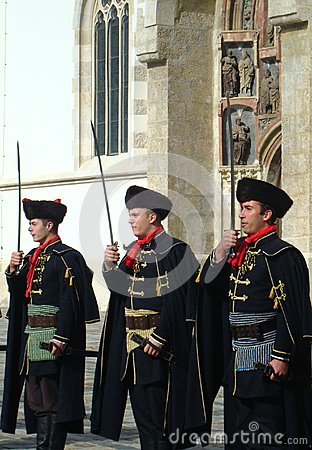 Kravat regiment guard change Editorial Image