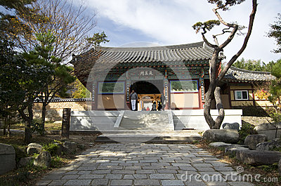 Krean Buddhism temple Editorial Stock Image