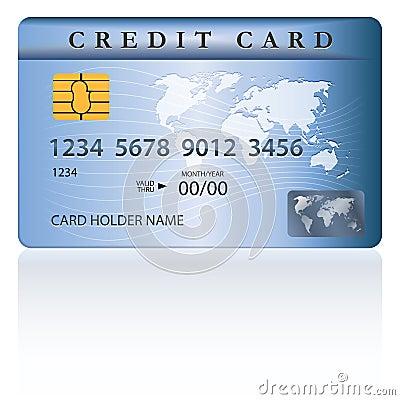 Kredit oder Debitkarteentwurf