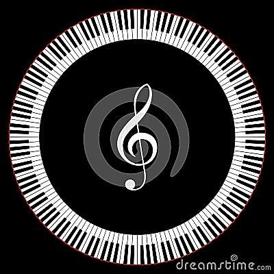 Kreis der Klavier-Tasten