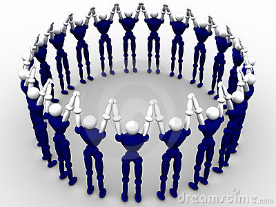 Kreis der Leute