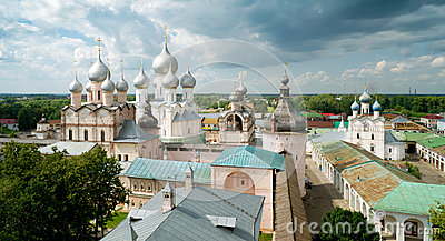 Kremlin of ancient town of Rostov the Great