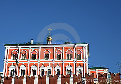 Kremlin building on sky background