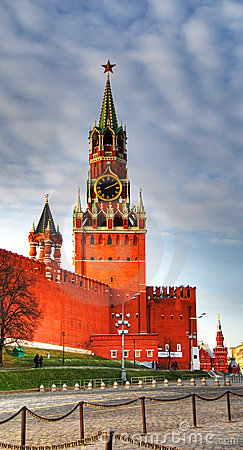 Kremlin clock of the Spasskaya Tower. Moscow