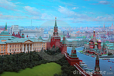 Kremlin in diorama  Editorial Stock Image