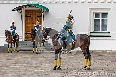Kremlin regiment on horseback Editorial Image