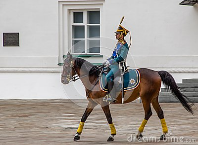 Kremlin regiment on horseback Editorial Stock Photo