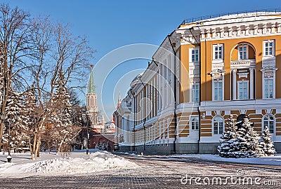 Kremlin Senate and Nikolskaya Tower,Moscow