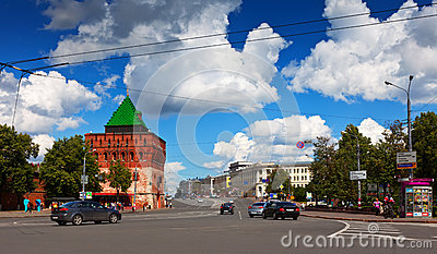 Kremlin street at Nizhny Novgorod in summer Editorial Stock Photo