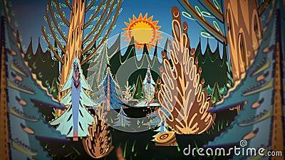 Kreskówka las zbiory