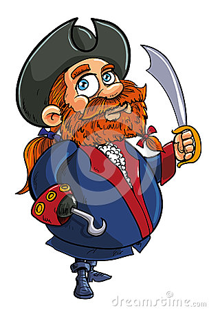 Kreskówka pirata kapitan