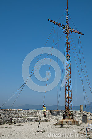 Kreuz der alten Festung von Korfu