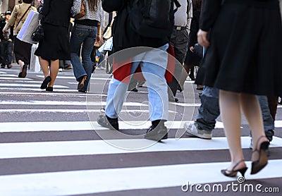 Kreuzung der Straße