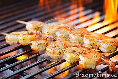 Krewetki mierzeja na grillu