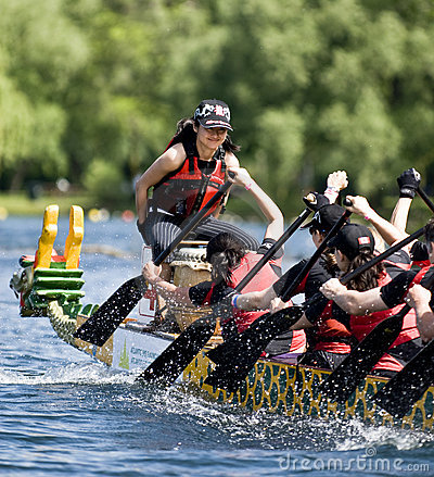 KRG Insurance Brokers Dragon Boat racing Editorial Stock Image