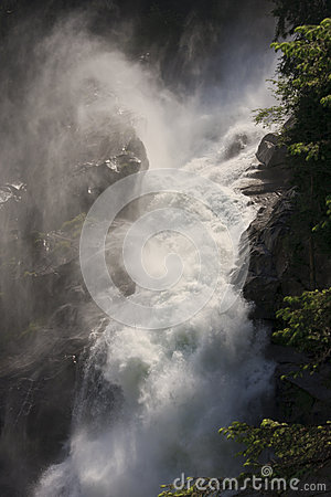The Krimml Falls in Austrian High Tauern Park