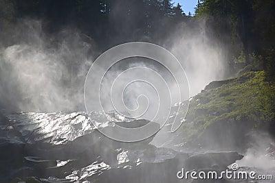 Krimml Falls in High Tauern National Park, Austria