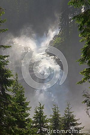 Krimml Falls in High Tauern Park, Austria