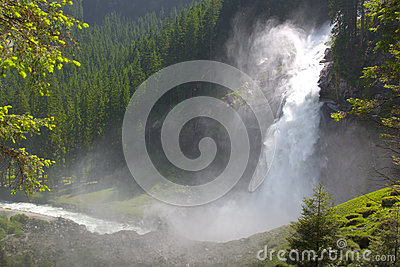 Krimml Waterfalls in High Tauern Park, Austria