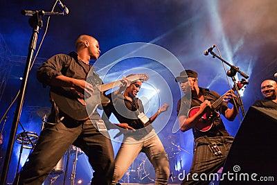 Kriol Jazz Festival on April 14, 2011 Editorial Photo