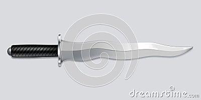 Kris dagger knife - vector art