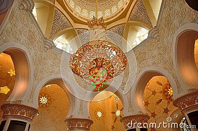 kristallleuchter sheikh zayed grand mosque stockfotos. Black Bedroom Furniture Sets. Home Design Ideas