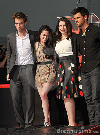Kristen Stewart, Robert Pattinson, Stephenie Meyers, Taylor Lautner Editorial Photo