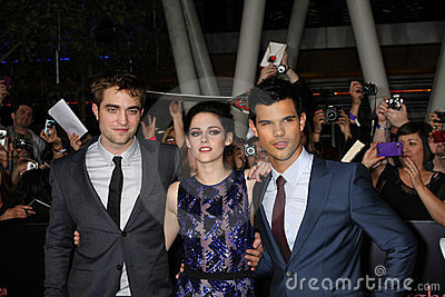 Kristen Stewart, Robert Pattinson, Taylor Lautner Editorial Stock Photo