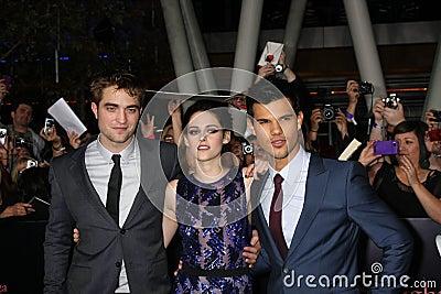 Kristen Stewart, Robert Pattinson, Taylor Lautner Editorial Stock Photo