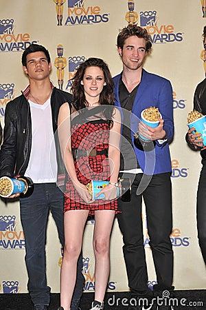 Kristen Stewart, Robert Pattinson, Taylor Lautner Editorial Photo