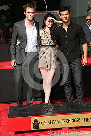 Kristen Stewart,Robert Pattinson,Taylor Lautner Editorial Stock Photo