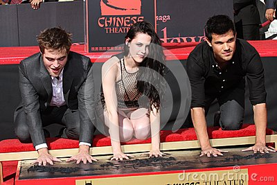 Kristen Stewart,Robert Pattinson,Taylor Lautner Editorial Stock Image