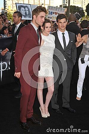 Kristen Stewart,Robert Pattinson,Taylor Lautner Editorial Photo