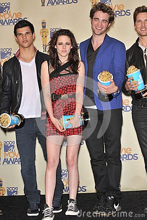 Kristen Stewart,Robert Pattinson,Taylor Lautner Editorial Stock Photo