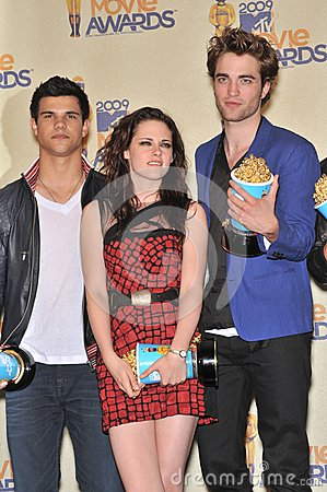 Kristen Stewart,Robert Pattinson,Taylor Lautner Editorial Photo