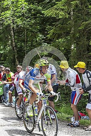 骑自行车者Kristijan Koren 编辑类库存图片