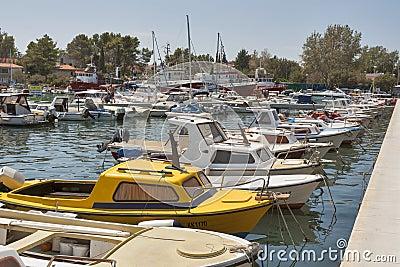 Krk marina Editorial Photography