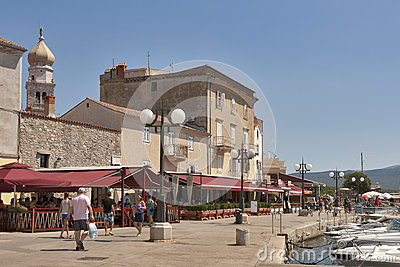 Krk seafront, Croatia Editorial Stock Image