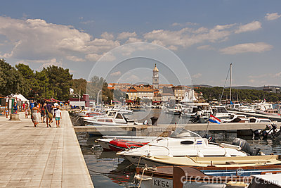 Krk seafront, Croatia Editorial Photo