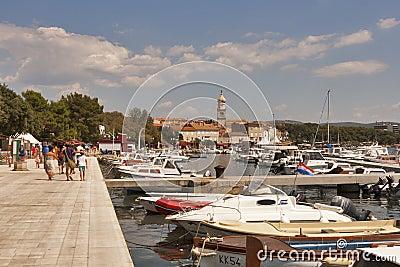 Krk seafront, Croatia Editorial Photo