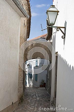 Krk town narrow street